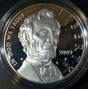 $1 LINCOLN PROOF FROM COIN AND CHRONICLES SET  NO BOX OR COA 90  SILVER