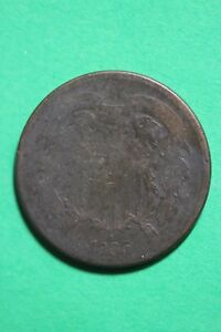 1865 TWO 2 CENT SHIELD COIN EXACT COIN PICTURED FLAT RATE SHIPPING OCE017