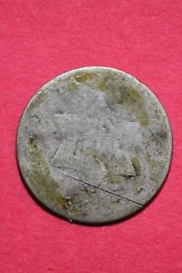 LOW GRADE NO DATE SEATED LIBERTY TRIME 3 CENT SILVER FLAT RATE SHIPPING OCE 006