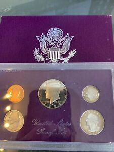 1984 S UNITED STATES MINT PROOF  5  COIN SET W/ BOX