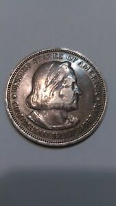 1893 SILVER COLUMBIAN EXPOSITION U.S. COMMEMORATIVE HALF DOLLAR   NICELY TONED