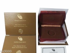 US MINT BOX & COA FOR 2012 W $10 GOLD FIRST SPOUSE FRANCES CLEVELAND 2 NO COINS