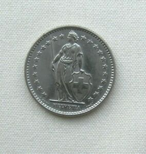 1968 SWITZERLAND 2 FRANCS COPPER NICKEL 27.4MM KM21A CIRCULATED WORLD COIN