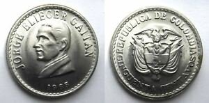 1965 COLOMBIA 50 CENTAVOS COPPER NICKEL 30.5MM KM 225 CIRCULATED WORLD COIN