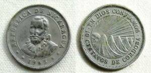 1965 NICARAGUA 10 CENTAVOS COPPER NICKEL 20MM KM 17 CIRCULATED WORLD COIN