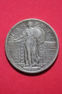 1917 P TYPE 1 STANDING LIBERTY QUARTER EXACT COIN SHOWN FLAT RATE SHIP OCE372