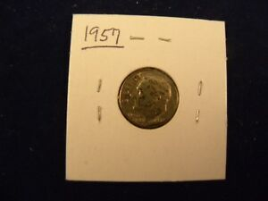 1957 ROOSEVELT DIME  NOT PROFESSIONALLY GRADED   90  SILVER