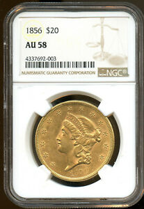 Click now to see the BUY IT NOW Price! 1856 TWENTY DOLLAR  GOLD TYPE 1 NGC AU58