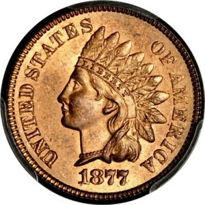 Click now to see the BUY IT NOW Price! 1877 1C INDIAN CENT PCGS MS65RB  PHOTO SEAL