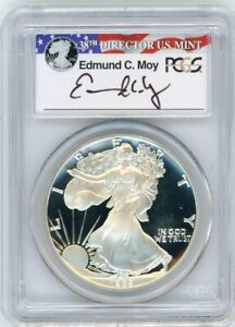 Click now to see the BUY IT NOW Price! 1989 S $1 PROOF SILVER EAGLE PCGS PR70 ED MOY SIGNED RED WHITE AND BLUE LABEL