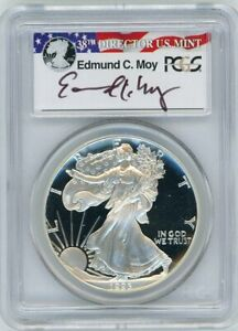 Click now to see the BUY IT NOW Price! 1993 P $1 PROOF SILVER EAGLE PCGS PR70 ED MOY SIGNED RED WHITE AND BLUE LABEL