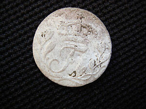 MEDIEVAL ANTIQUE OLD SWEDEN 1723 SILVER 1 ORE COIN   432