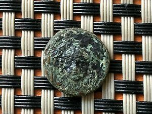 ANCIENT GREEK BRONZE COIN AE14 UNKNOWN.
