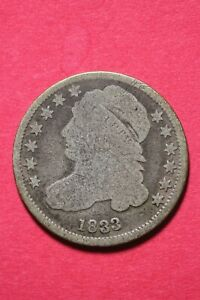 1833 CAPPED BUST DIME EXACT COIN PICTURED FLAT RATE SHIPPING EARLY COIN OCE 152