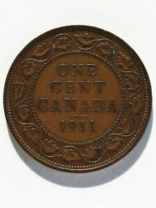 1911 CANADA 1 CENT  A