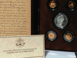 2009 LINCOLN COIN & CHRONICLES US MINT SET WITH BOX AND COA