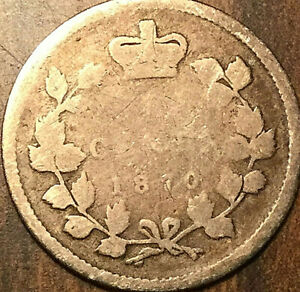 1870 CANADA SILVER 5 CENTS COIN