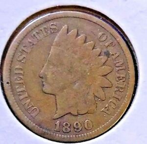 1890 INDIAN HEAD US CENT   GOOD?    ULTRA LOW FIXED PRICE    E51