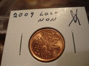 2009 LOGO   NON MAG   CANADA ONE CENT   CANADIAN PENNY   BRILLIANT UNCIRCULATED