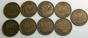 LOT ONE CENTS 1940 1941 1942 1943 1945 1946 1947 1947ML 1949