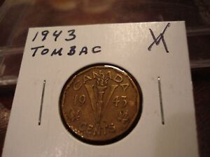 1943 TOMBAC   CANADA 5 CENT   CANADIAN NICKEL