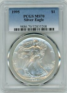 Click now to see the BUY IT NOW Price! 1995 $1 1OZ SILVER EAGLE MS70 PCGS BLUE LABEL
