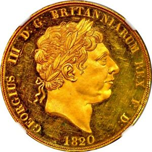 Click now to see the BUY IT NOW Price! 1820 GREAT BRITAIN GEORGE III GOLD 2 POUND LETTERED EDGE W&R 179 NGC PR63DCAM