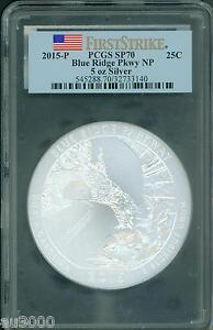 Click now to see the BUY IT NOW Price! 2015 P BLUE RIDGE PKWY AMERICA BEAUTIFUL ATB 5 OZ SILVER PCGS SP70 FIRST STRIKE