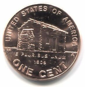 U.S. 2009 P LINCOLN LOG CABIN BICENTENNIAL PENNY UNCIRCULATED ONE CENT COIN