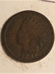 1891 US  1 CENT INDIAN HEAD  B