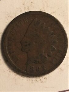 1893 US  1 CENT INDIAN HEAD  B
