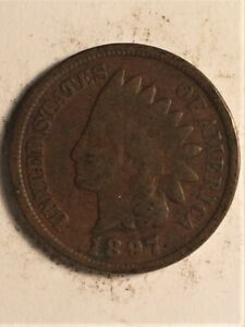 1897 US  1 CENT INDIAN HEAD  A