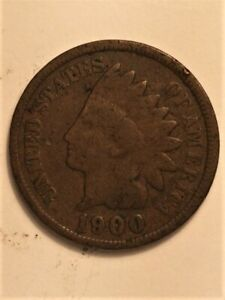 1900 US  1 CENT INDIAN HEAD  B