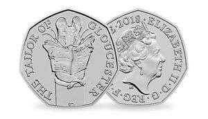 2018 50P FIFTY PENCE COIN THE TAYLOR OF GLOUCESTER UNCIRCULATED BEATRIX POTTER