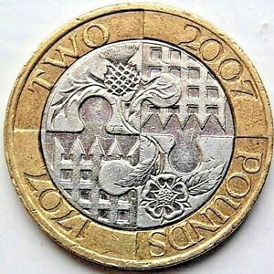 2007 ACT OF UNION UNITED INTO ONE KINGDOM 2 COIN 1707 2007