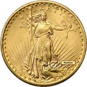 US GOLD $20 SAINT GAUDENS DOUBLE EAGLE   1908 NO MOTTO ALMOST UNCIRCULATED