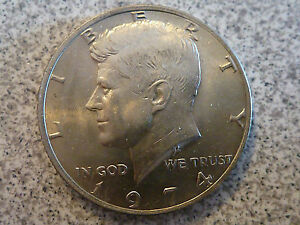 1974 P KENNEDY HALF DOLLAR COIN AU