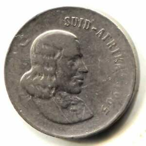 1965 SOUTH AFRICA FIVE CENT COIN   20 CENTS   SUID AFRIKA