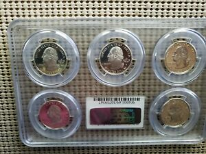 Click now to see the BUY IT NOW Price! 90   SILVER STATE QUARTER COMPLETE SET 1999 THRU 2008 GRADED  PR69  DCAM BY PCGS