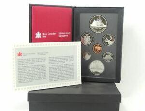 1987 CANADIAN PROOF SET DAVIS STRAIT DOUBLE DOLLAR SET W/BOX & COA