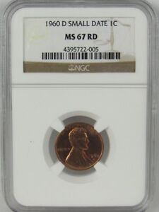 1960 D SMALL DATE LINCOLN CENT NGC MS67RD
