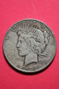 1922 D LIBERTY PEACE SILVER DOLLAR EXACT COIN SHOWN FLAT RATE SHIPPING TOM 230