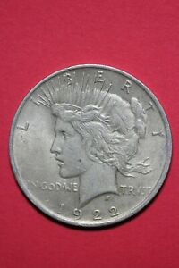 1922 P LIBERTY PEACE SILVER DOLLAR EXACT COIN SHOWN FLAT RATE SHIPPING TOM 342