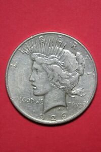 1926 D LIBERTY PEACE SILVER DOLLAR EXACT COIN SHOWN FLAT RATE SHIPPING TOM 321