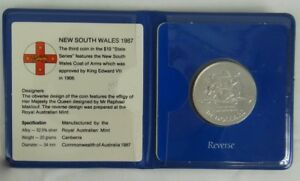 AUSTRALIA 1987 NEW SOUTH WALES $10 SILVER COMMEMORATIVE COIN IN ORIGINAL HOLDER