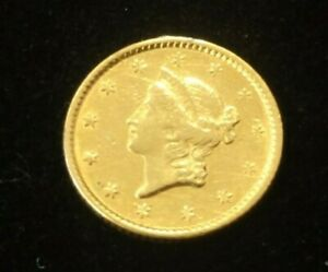 1851 $1 DOLLAR GOLD COIN TYPE 1  LOT 2