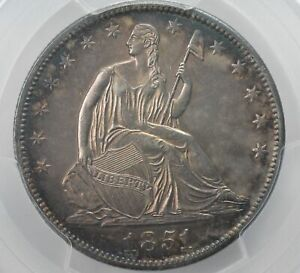 Click now to see the BUY IT NOW Price! 1851 HALF DOLLAR 50C LIBERTY SEATED TY 2 NO MOTTO PCGS CERTIFIED GENUINE