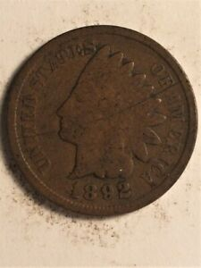 1892 US  1 CENT INDIAN HEAD