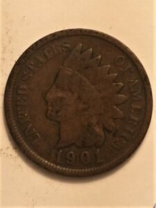 1901  B  US  1 CENT INDIAN HEAD