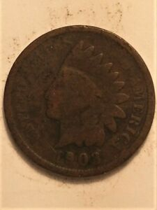 1903  B  US  1 CENT INDIAN HEAD